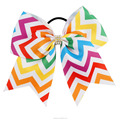 7 Inch Colorful Rhinestones Knot Cheer Bows With Hair Tie BH1534-X
