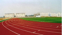 Waterproof synthetic rubber running track Prefabricated athletic track flooring material
