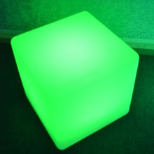 Remote control rechargeable cube glowing