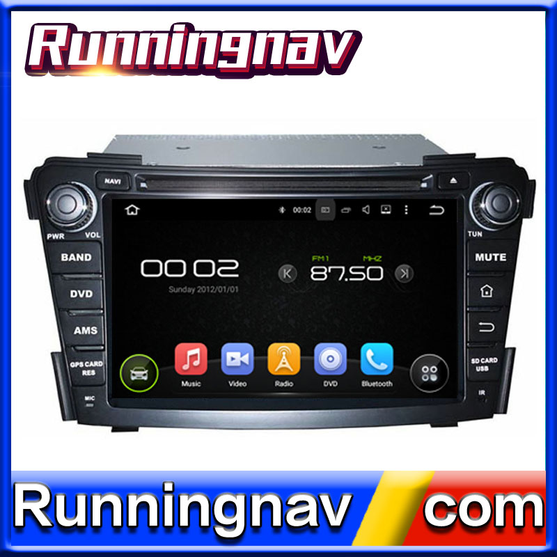 Android Quad Core for Hyundai I40 Car dvd Player 7 inch double din with GPS+IPOD+BT+Radio+AUX