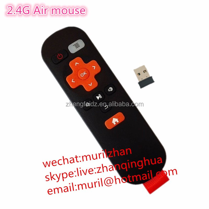 Black+orang Mini 11 Keys 2.4G Air mouse general network set-top box android ali cloud smart TV universal remote control with USB