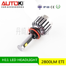 Autoki Newest DIY five optional colors high power car H11 led headlight bulb