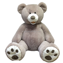 "free sample 4.5Ft 53"" EXTRA Large Teddy Bear XL Plush Toy GRAY GREY Giant Stuffed Animal 63'' Gaint Big large plush bear toy"