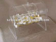 Small Rotation Acrylic Raffle Drum/Box/Barrel