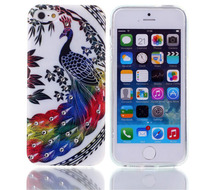 Chinese style peacock design TPU durable shockproof case for iPhone 5