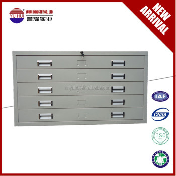 high quality metal durable flat file cabinet / map and drawing cabinet