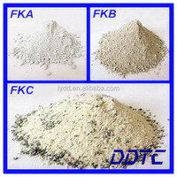 Refractory furnace acid dry vibrating mixture material for steel foundry