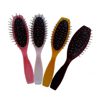 Professional Hair Massage Plastic Comb Healthy Paddle Cushion Brush Hairbrush Comb Scalp