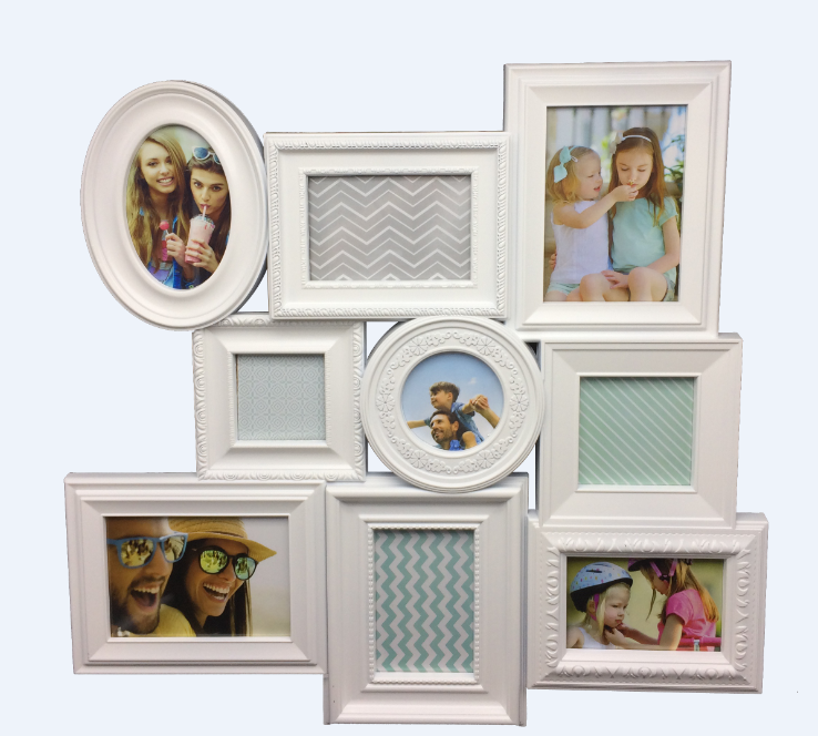 Commemorate the time styl plastic design craft frame collage picture frames with multi style high customization