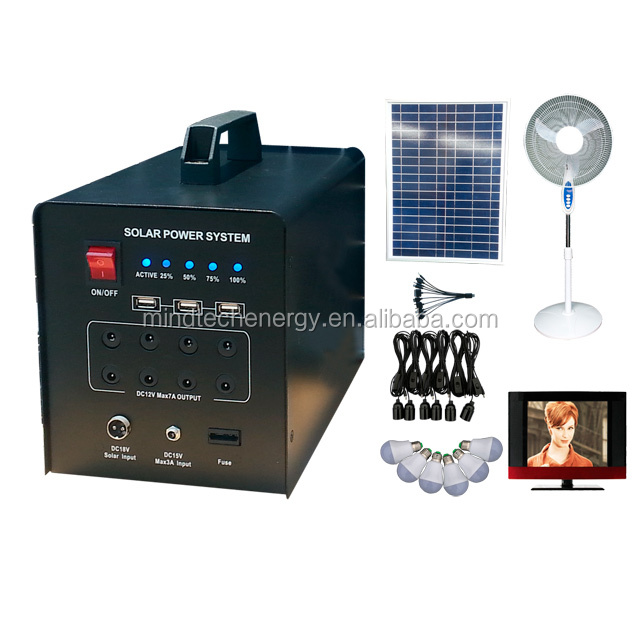 Promotion solar system 60w for supply electric power energy for home commercial industry use