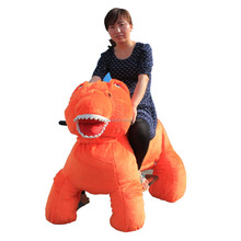Park and mall Equipment Plush Stuffy dinosaur animal ride on car kids electric car