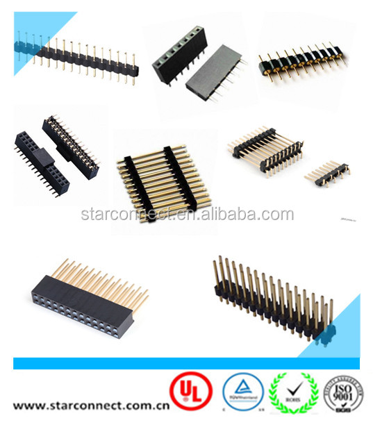 Factory PCB Sinlge Dual Row SMT 2.0mm 2.54mm Pitch Female Header