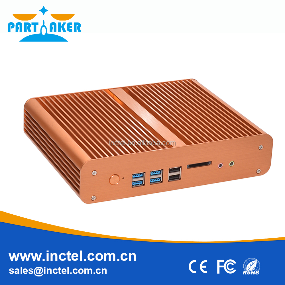 China Manufacturer Support 2*Mini PCIE Msata SSD Mini Fanless Industrial Pc