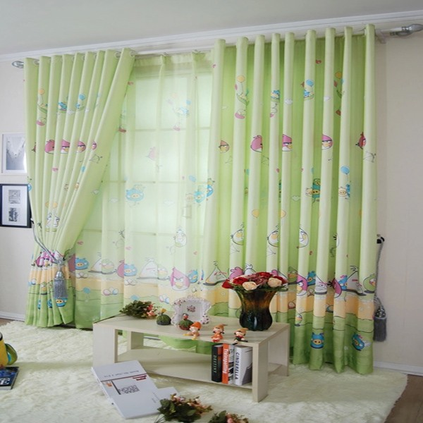 Wholesale Customize Green Finished Curtain For Kids Bedroom