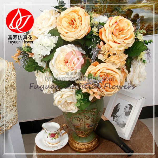 141160 professional factory wholesale chep rose artificial flowers arrangements in vase