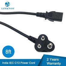 8ft 3P Round Plug Female C13 Socket IS Indic Slow Cooker Power Cord