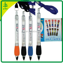 JD-C349 hot-selling plastic pull out banner pen with lanyard