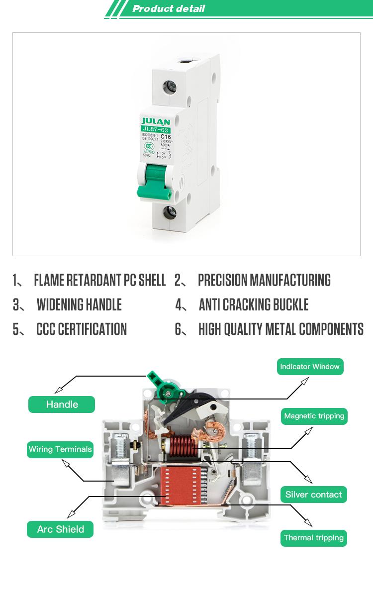 China Best Hot Sale Factory Direct Price Dc 2 Pole 1 Amp Mcb Buy Ccc Wiring Diagram Ac50hz 60hz 230v 400v Wholesale 2p Mini Circuit Breaker
