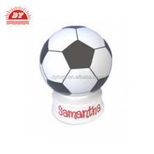 ICTI China factory 3d plastic soccer ball money box