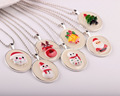 Christmas Necklace-Christmas Jewelry-Santa Claus/Snowman/Bells/Tree/Reindeer Necklace,Fluorescent Holiday Chain Pendant Necklace