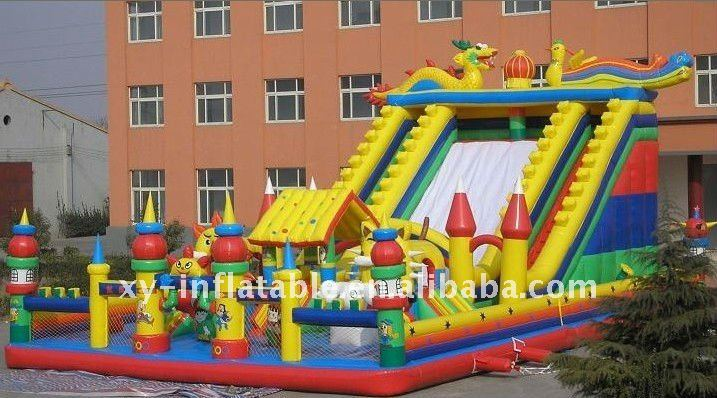 Giant Inflatable playground with slide