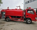 Dongfeng 6x2 left hand drive 6 wheels fire truck 1200 gallon water tank capacity with water cannon and fire pump for sale