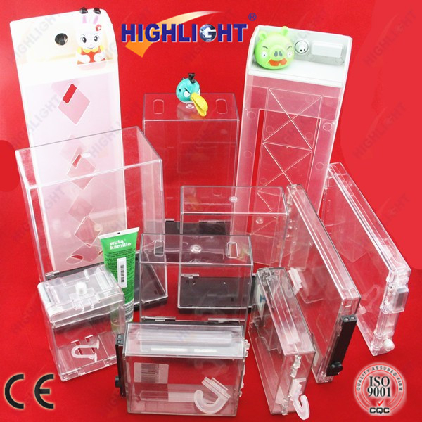 HIGHLIGHT S029 8.2Mhz/58Khz EAS Big Commodity Safer Box, plastic box with lock, eas safer box