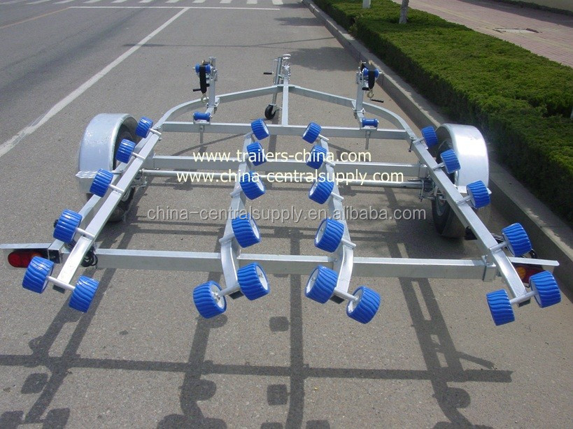 HEAVY DUTY 4.6M GALVANIZED DOUBLE JET SKI TRAILER WITH TOOL BOX