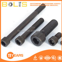 china made carbon steel black hex socket cap screws good quality