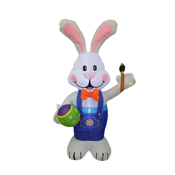 Easter Decorate Inflatable Easter Bunny and Egg Balloon Decorations Custom Inflatable Rabbit with Eggs
