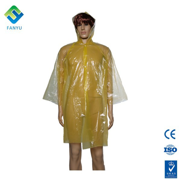transparent waterproof rain poncho with sleeves