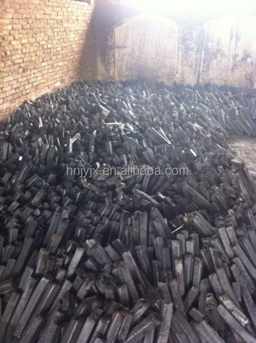Natural mangrove hardwood raw materials in charcoal briquette