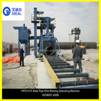 Large Steel Tube Pipe Wall Surface De-scaling Shot Blast Machine