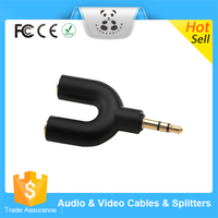 Popular Promotional selling mini 3.5mm jack super earphone/Headphone Splitter funny mini headphone splitter with 3.5mm plug