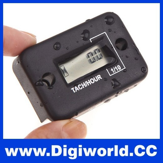 Hour Meter LCD Digital Auto Tachometer for 2 Stroke Gas Engine Motorcycle