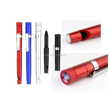Plastic colorful logo LED light pen with ballpoint pens suitable for writing and reading in dark