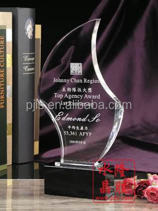 Special design crystal award,crystal plaque souvenir