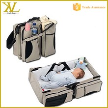 Travel Mummy Bag Baby Carry Cot, Foldable Portable Baby Travel Bed, Crib Diaper Bag