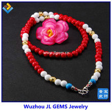 Hot Sale Synthetic Red Coral Bead Necklace Jewelry with Wholesale Prices
