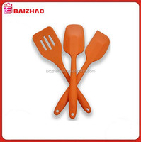 Silicone Cooking Utensils and Spatula Set (3 Piece) Spatula, Spoon Spatula, and Slotted Turner