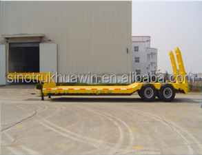 HUAWIN 45t Double Axle Lowbed Semi Trailer for sale