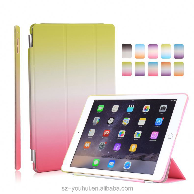 Wholesale Rainbow Color Fancy Laptop Leather Case For Ipad Air 2