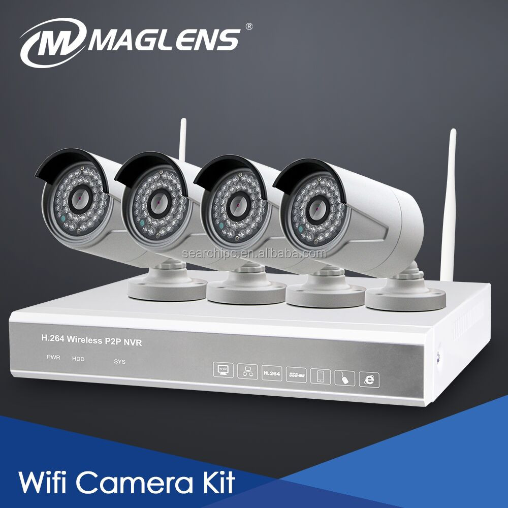 720P 1MP CMOS easy installation power cable multiple platform monitoring surveillance wireless cctv camera manufacturers kit