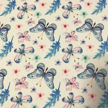 Garment polyester digital printing butterfly print on dress fabric