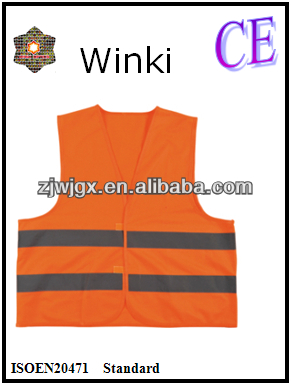 Europe Best Selling OrangeWarning Vest with Velcro Conforms to ENISO20471