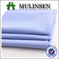 Shaoxing Poplin with blue and white cotton stripe stretch fabric