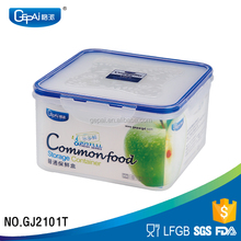 Wholesale square plastic food storage container 1200ml
