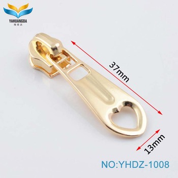 Light gold zinc alloy 2017 new product fashion custom metal zip puller
