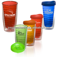 BPA Free 16oz Double Wall Plastic Cup