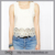 Summer Style Women Tank Tops Fashion 2016 Hot Sale Chiffon Crop Tops Solid Color Hollow Out